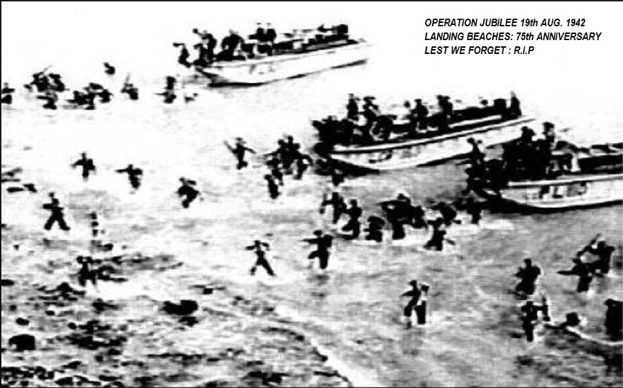 Dieppe Raid 1942 Jubille operation Canadian divisions dieulois