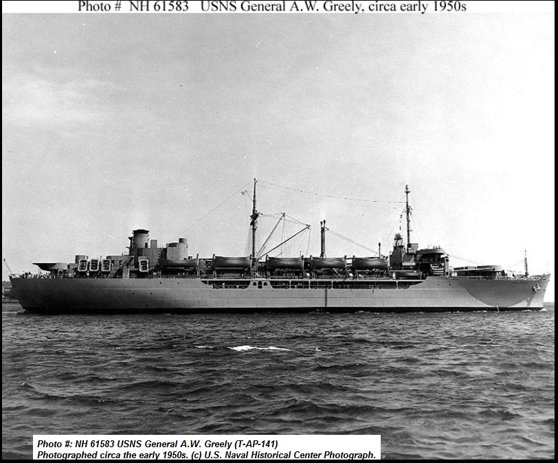 USS GENERAL A.W.GREELY PETIT-DIEULOIS