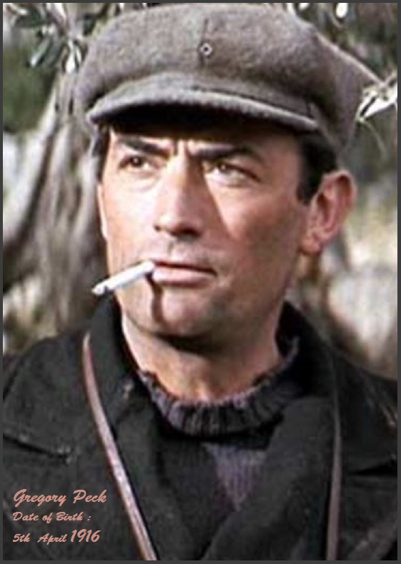 GREGORY PECK -THE GUNS OF NAVARONE PETIT-DIEULOIS