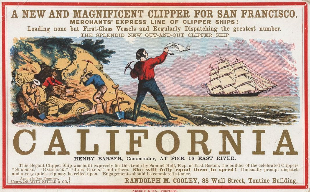 CALIFORNIA GOLD RUSH 1848 PETIT-DIEULOIS