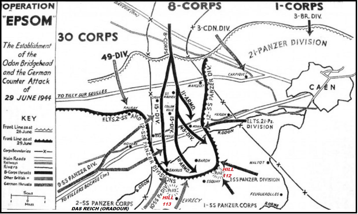 43rd WESSEX DIVISION : HILL112  JUNE-JULY 1944 PETIT-DIEULOIS