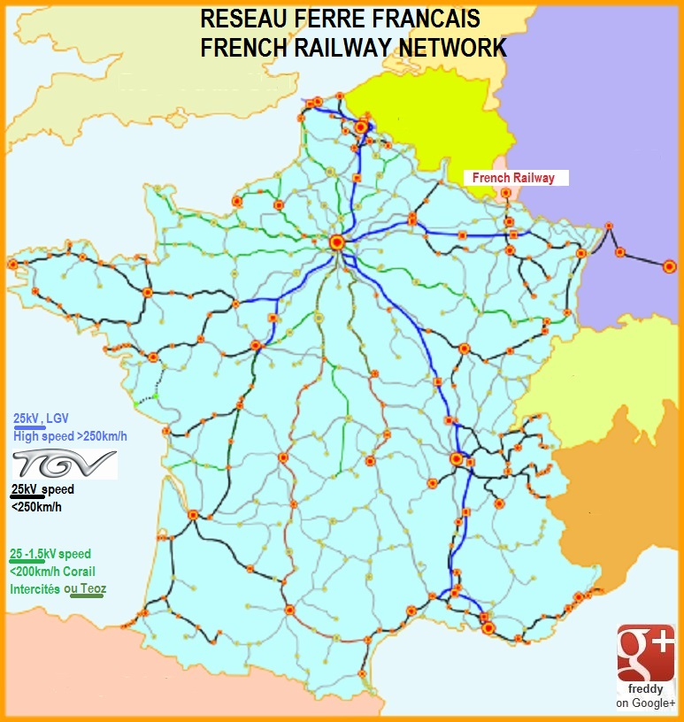 FRENCH RAILWAYS NETWORK-RFF -DIEULOIS