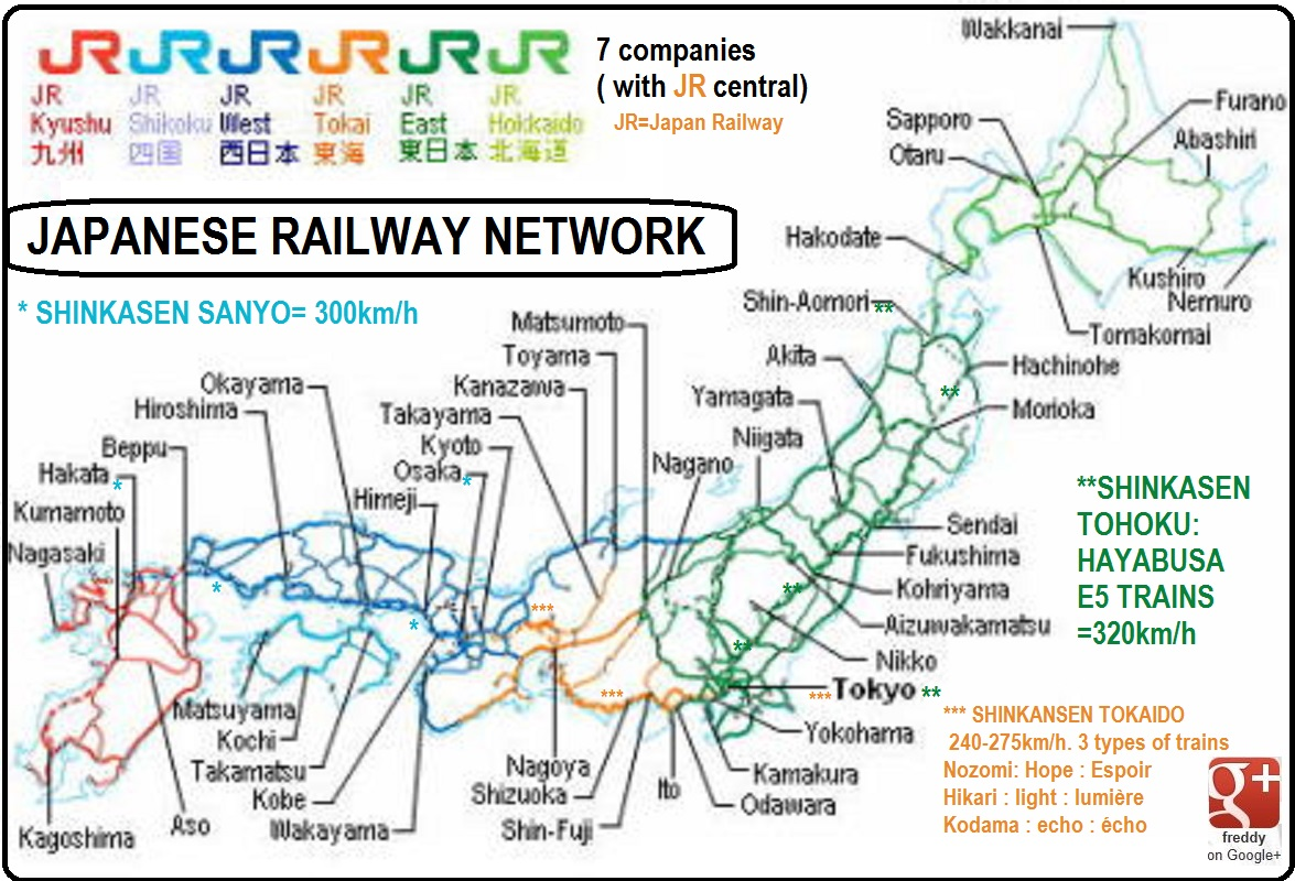 JAPANESE RAILWAYS NETWORK by Frederic PETIT-DIEULOIS