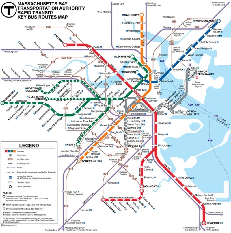 Boston metro by FPDIEULOIS   METRO MAP   RER PLAN CARTE