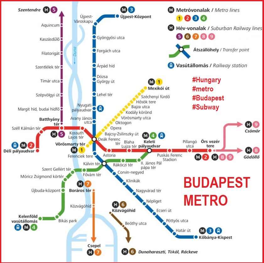 Budapest metro by FPDIEULOIS METRO MAP RER PLAN CARTE