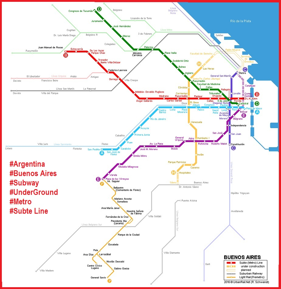 BuenosAires metro::PLAN & MAP & CARTE