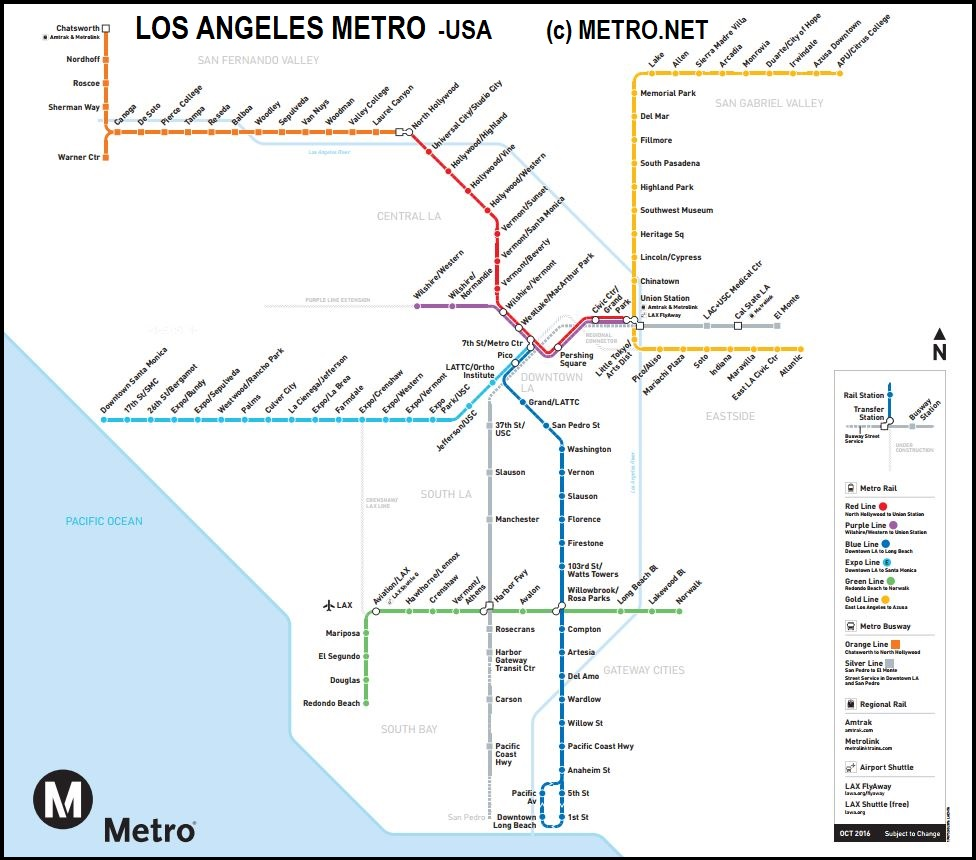 LosAngeles metro by FPDIEULOIS   METRO MAP   RER PLAN CARTE