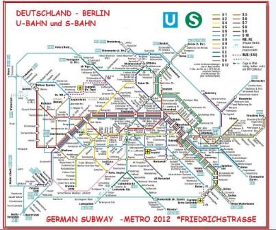 plan du metro BERLIN SUBWAY - german BERLIN underground