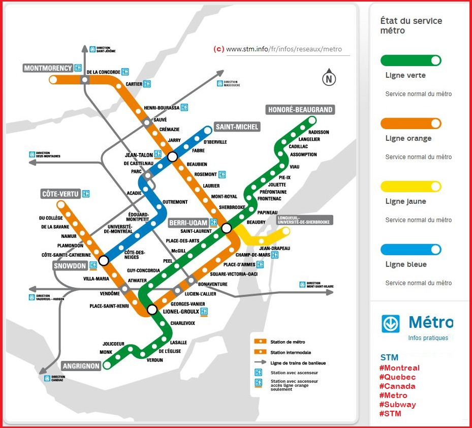 Montreal metro::PLAN & MAP & CARTE