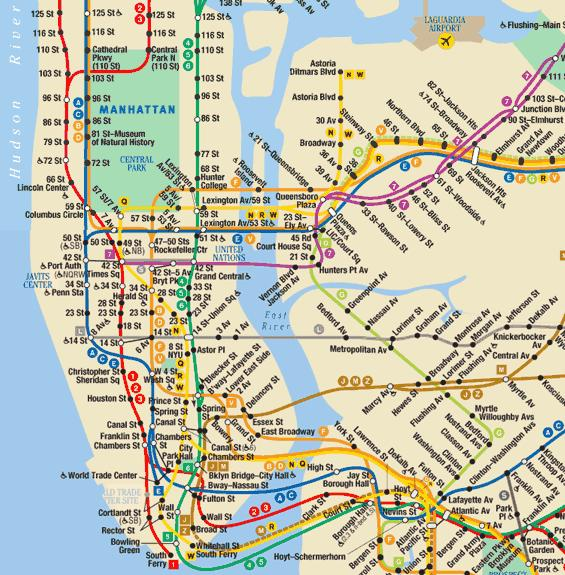 NEW YORK CITY -NEW YORK CITY PLAN METRO - NEW YORK CITY- METRO-NEW ...