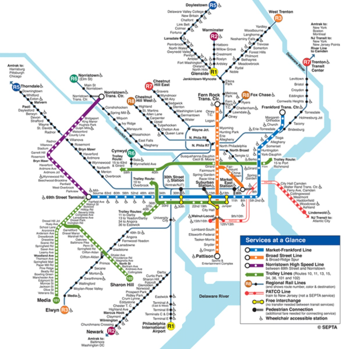 Philadelphia metro::PLAN & MAP & CARTE