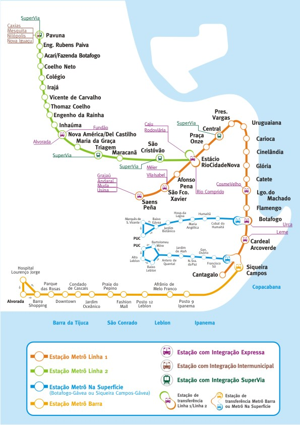 Rio metro by FPDIEULOIS METRO MAP RER PLAN CARTE