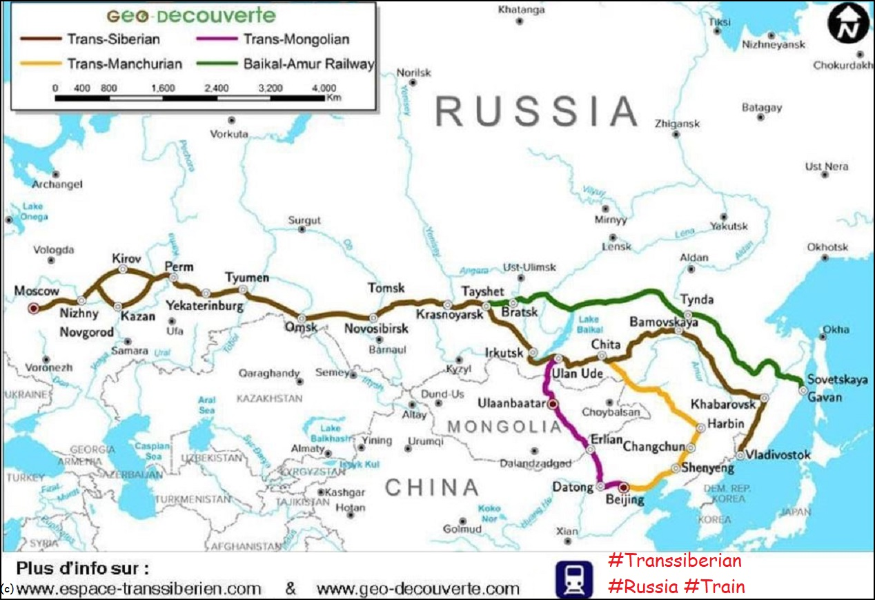 Transsiberian Russia::PLAN & MAP & CARTE