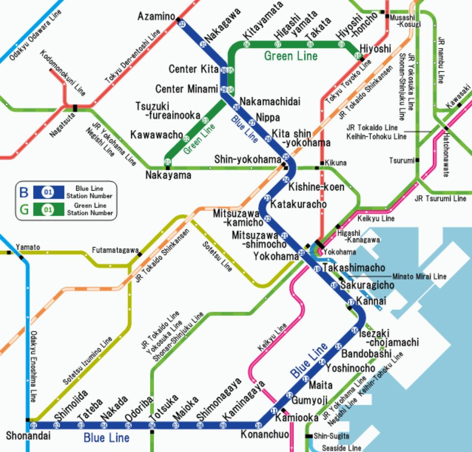 Yokohama metro::PLAN & MAP & CARTE