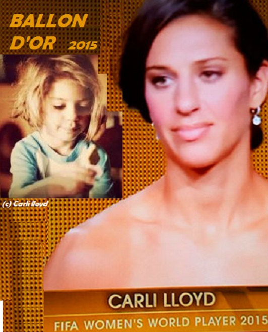 CARLY LLOYD : BALLON D'OR 2015-PETIT DIEULOIS