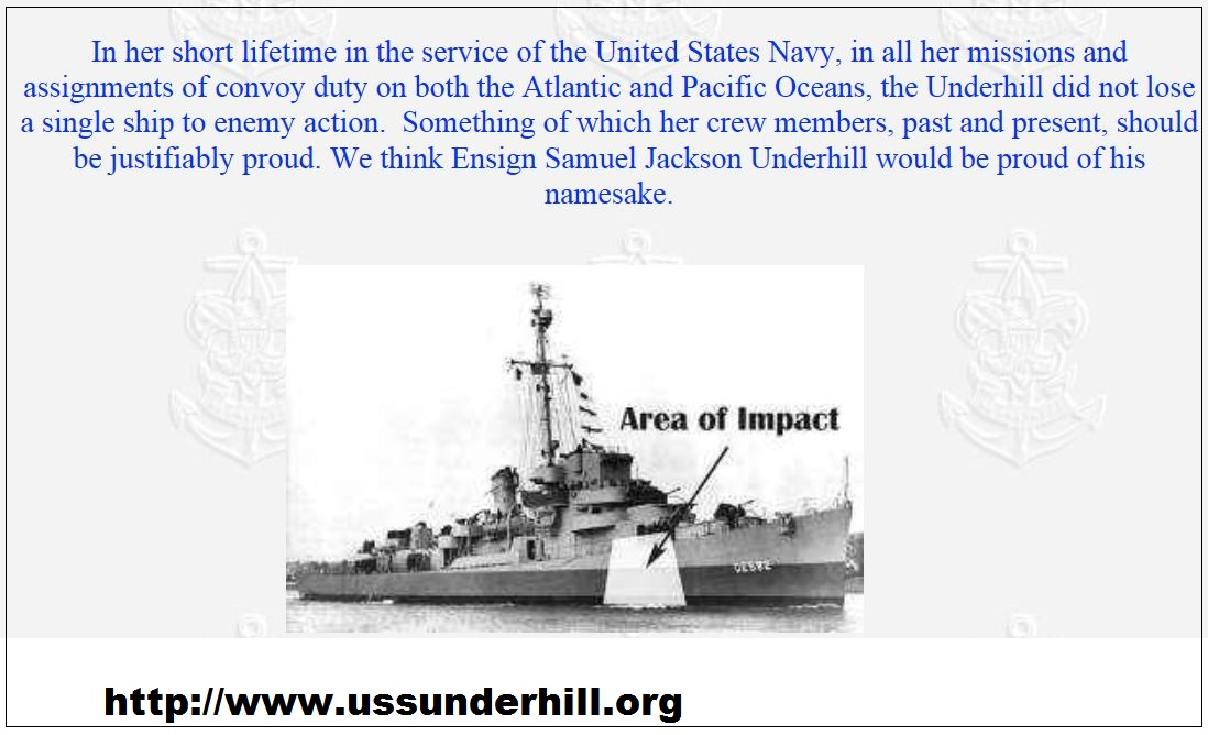 24th JULY 1945: USS UNDERHIL