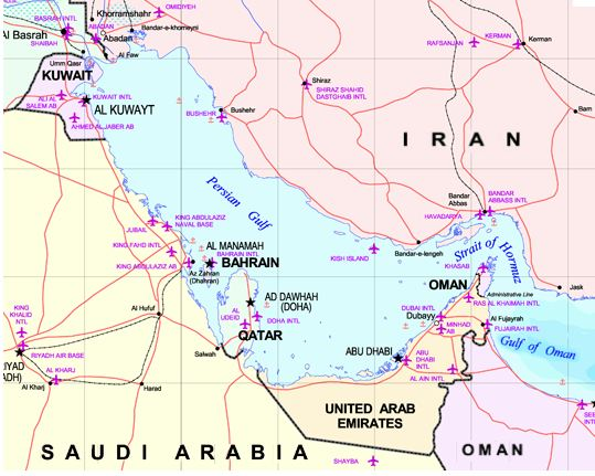 MAPS OF PERSIAN GULF PETIT-DIEULOIS