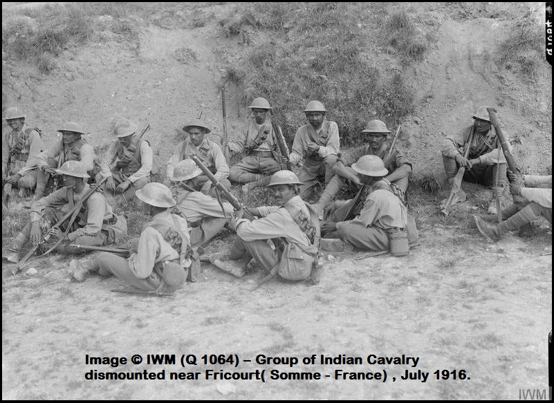 INDIAN SOLDIERS ww1 Somme DIEULOIS PETIT-DIEULOIS