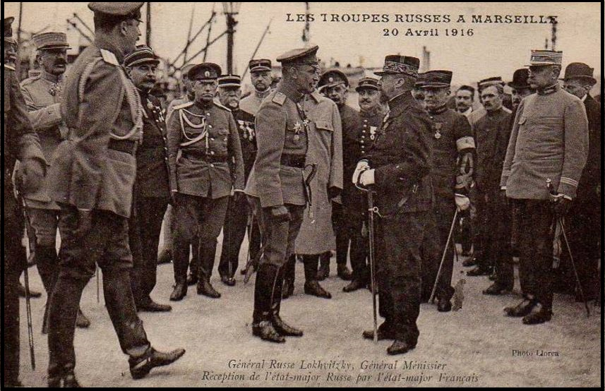 Marseilles Russian forces 20th APRIL1916 DIEULOIS