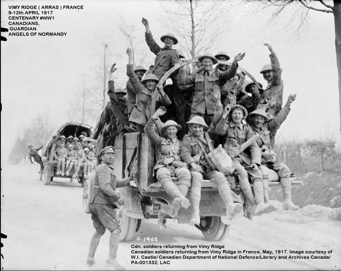 VIMY RIDGE BATTLE: TRIBUTE TO CANADIAN DIVISIONS PETIT-DIEULOIS
