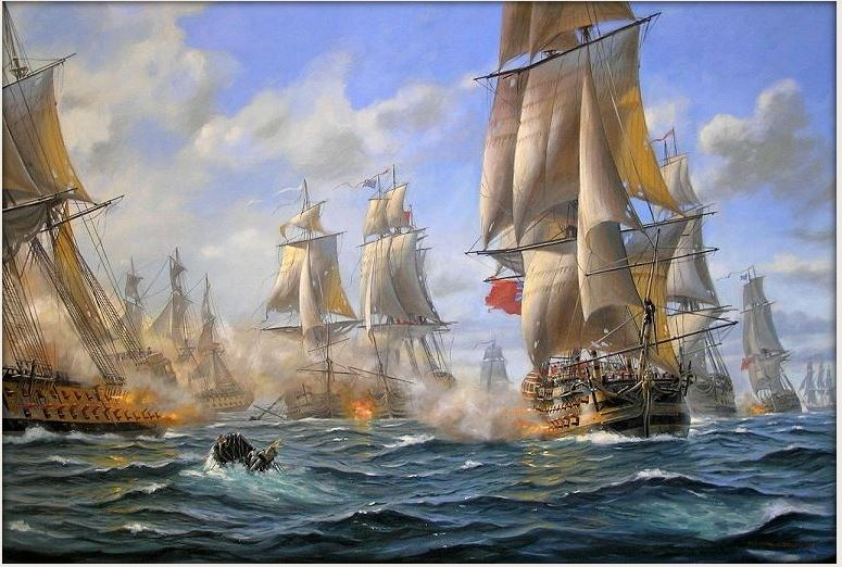 CHESAPEAKE 1781-BATTLE OF VIRGINIACAPES : VILLE DE PARIS DIEULOIS