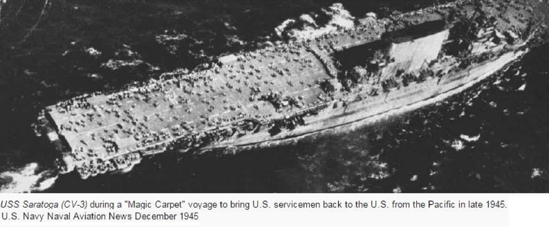 USS SARAGOTA MAGIC CARPET PETIT-DIEULOIS