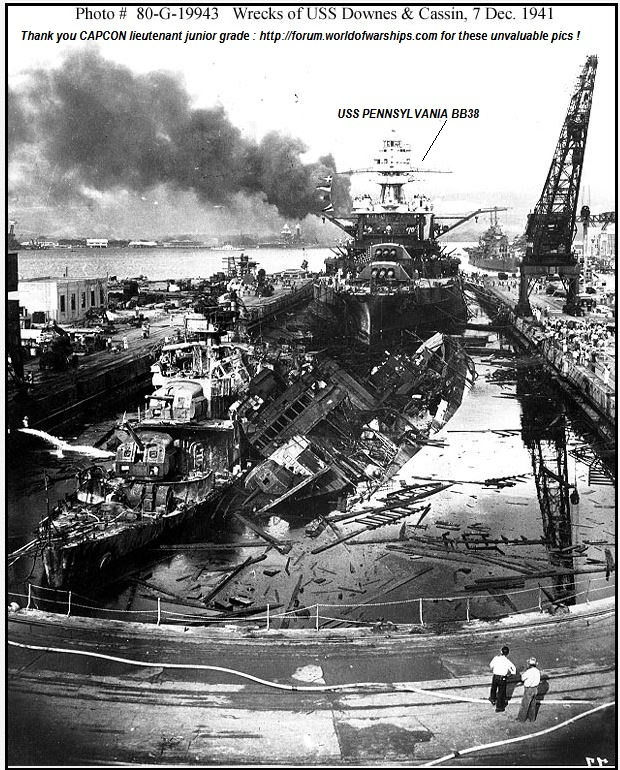USS PENNSYLVANIA ( PEARL HARBOR SURVIVING) TORPEDOED