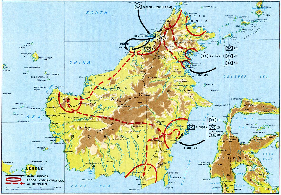 BATTLE OF BALIKPAPAN FOR LIBERATING BORNEO