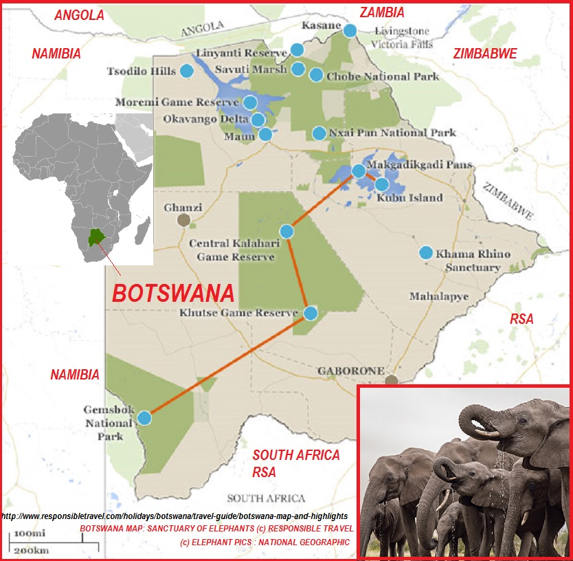 BOTSWANA: THE SANCTUARY OF ELEPHANTS DIEULOIS