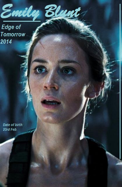 EMILY BLUNT - EDGE OF TOMORROW -PETIT-DIEULOIS