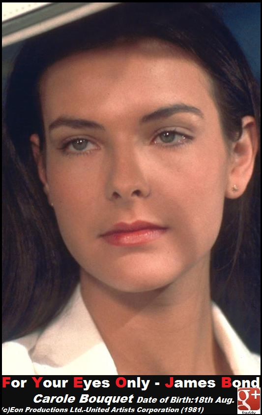 Carole Bouquet -For Your Eyes JAMES BOND PETIT-DIEULOIS
