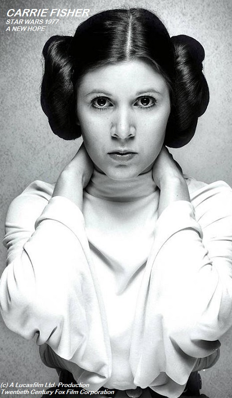 CARRIE FISHER STAR WARS 1977 Frederic PETIT-DIEULOIS