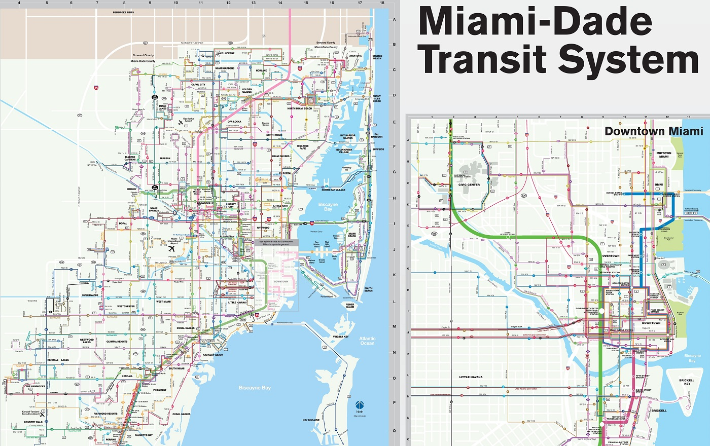 Miami metro::PLAN & MAP & CARTE