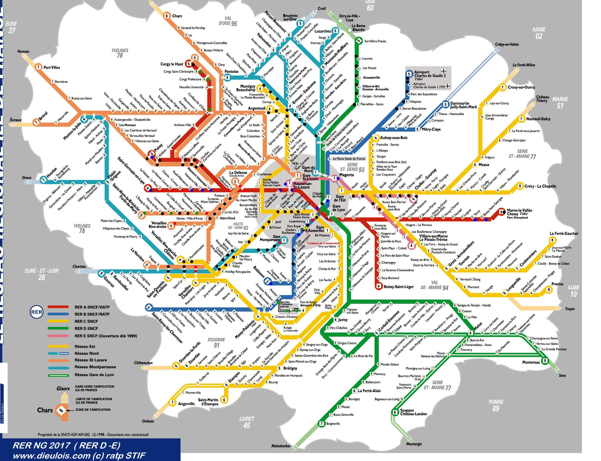 Rer plan::PLAN & MAPS & CARTE