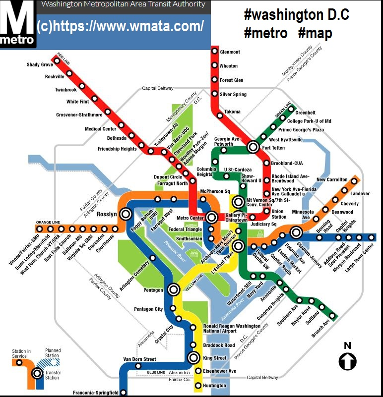 Real Dc Subway Map.Washington Dc Washington Dcplan Metro Usa Il Metro Usa Metro Map