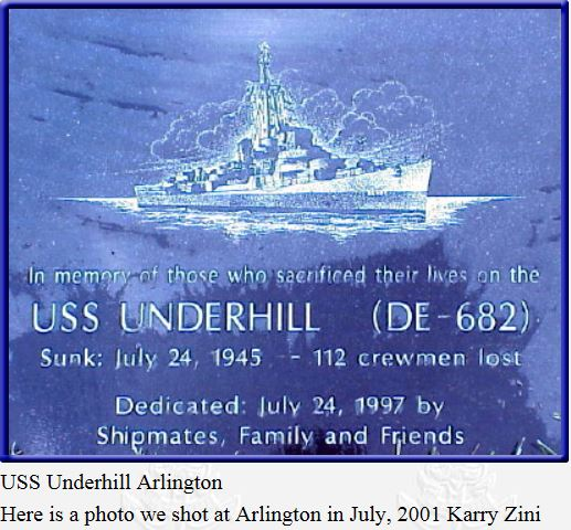 24th JULY 1945: USS UNDERHIL SUBMARINES DIEULOIS