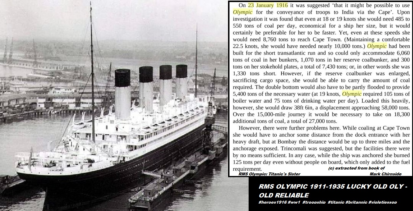 RMS OLYMPIC 1916 SISTERSHIP OF TITANIC DIEULOIS