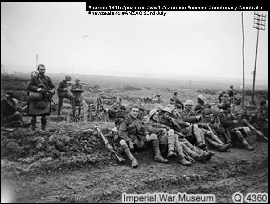 POZIERES RIDGE-ANZAC TROOPS